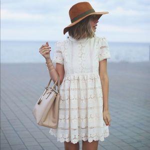 Chicwish Darling Lace Dolly Sleeveless Mini Dress